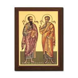1830-431 Icoana fond auriu 19,5x26,5 - Sf. Ap. Petru si Pavel