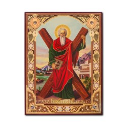 1865-118 the Icon of the Russian CHIPBOARD 30x40 St. Andrew's church
