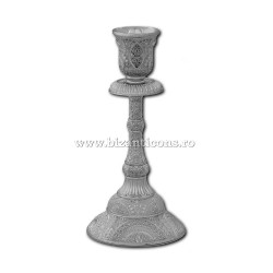 52-157Ag sfesnic 1 brat - 16,5x8cm metal argintiu 2/set 96/bax