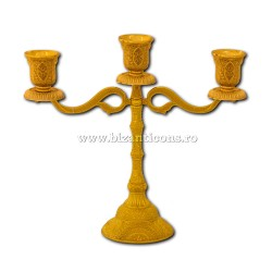52-159Au sfesnic 3 brate - 22x24cm metal auriu 30/bax