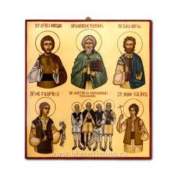 Икона, написанная 40X45 - Святого петра, послание к Римлянам, в костюме ICP44-998