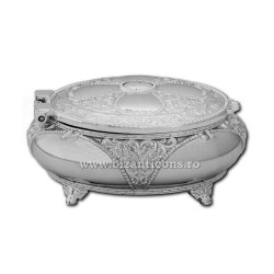 52-200Ag cutie metal rotunda - argintie 7,5x3,5 96/bax
