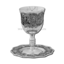 The 52-34AgP cup engagement silver + patina 12,5x7cm + plate 12x1cm 36/box