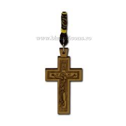 50-139 μενταγιόν της αυτο-σταυρός ξύλινος-12/set