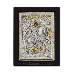 Icoana argintata 19x26 Sf Gheorghe K104Ag-010