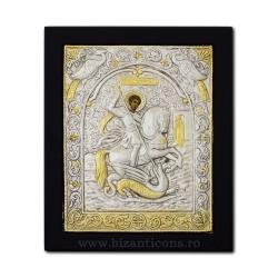 Icoana argintata 23x28 Sf Gheorghe K105Ag-010