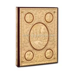 Ευαγγέλιο-χρυσό με πολύτιμους λίθους κόκκινο-AS102-152