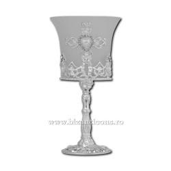 120-20A candela metal 17cm - ag pahar alb40/bax