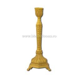 Η 52-148Au κηροπήγιο-χρυσό - 1 βραχίονας 25x10cm 48/κιβώτιο