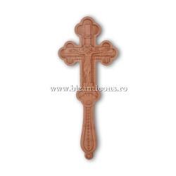 6-320 Cruce Bin. lemn sculptat 2 fete 1,5x9x23cm