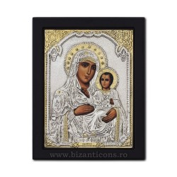 Icoana argintata - Maica Domnului din Ierusalim19x26 cm K104Ag-006