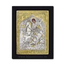 Icoana argintata 19x26 Sf Dimitrie K104Ag-014