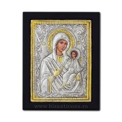 Icoana argintata - Maica Domnului Odighitria - Indrumatoarea 19x26 cm K104Ag-106