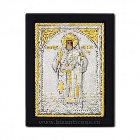 Icoana argintata 19x26 Sf Nectarie K104Ag-114