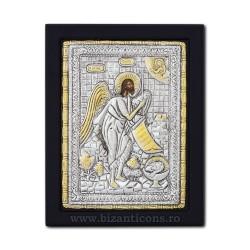 Το εικονίδιο με το ασημωμένο 19x26 του Αγίου Ιωάννη του Βαπτιστή K104Ag-121