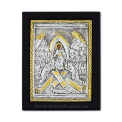 The icon with silvered 19x26 the Resurrection of the K104Ag-201