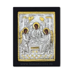 The icon with silvered 19x26 Holy Trinity K104Ag-215