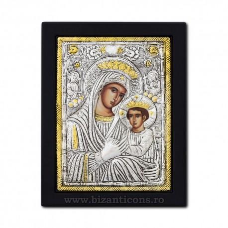 Icoana argintata - Maica Domnului Imparateasa - Anagheni 19x26 cm K104Ag-403