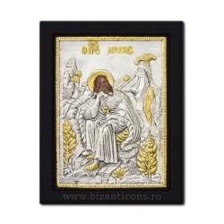 The icon with silvered 19x26 St. Elias K104Ag-444