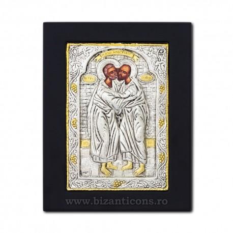 Icoana argintata 19x26 Sf Petru si Pavel K104Ag-431