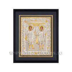 Icoana argintata - rama 25x30 Sf Mihail si Gavriil K1101-033