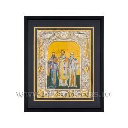 Icoana argintata - rama 25x30 Sf Trei Ierarhi K1101-454