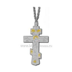 100-10SG Cruce pectorala aurie si argintie 0,3x6,5x12cm