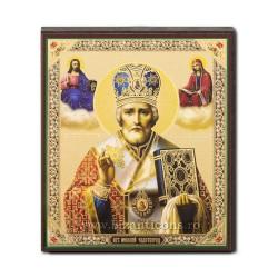 1852-009 Icoana ruseasca mdf 10x12 Sf Nicolae