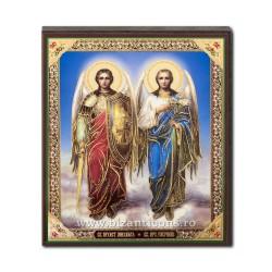 1852-713 Icoana ruseasca mdf 10x12 Sf Mihail si Gavriil