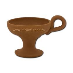 CATUIE ceramica fara capac medie 9x7cm D82-2 36/bax