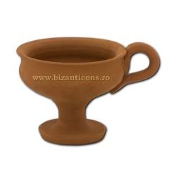 CATUIE ceramica fara capac mare 9x7,5cm D82-3 36/bax