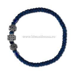 34-705Ab metanie cerata - bob mic - albastru - 3 cruci metal 12/set