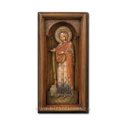 Icoana relief cu sticla 15x30cm MD Gerontissa BG-17