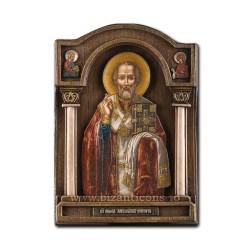 Icoana relief 18x26cm Sf Nicolae BG-71