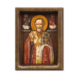Icoana relief 10x13cm Sf Nicolae BG-87