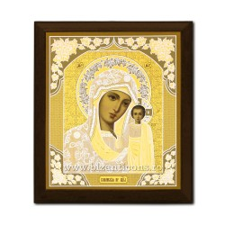 Εικονίδιο πάνω σε ξύλο, Μητέρας του Θεού του Καζάν, 15x18 cm.