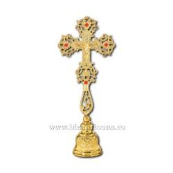 Cruce Binecuvantare - Aurita + pietre, cu baza fixa