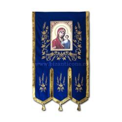 Steag brodat - albastru Z 204-10-1