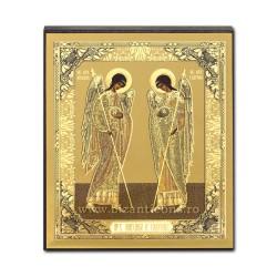 1883-60 το Εικονίδιο στο ρωσικά, 3D mdf, 10x12 Αγίου Μιχαήλ και Γαβριήλ εκκλησία
