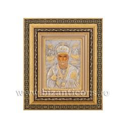 Icoana in rama - Sfantul Ierarh Nicolae 32,5x38 cm