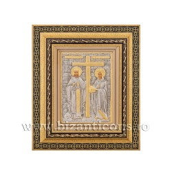 Icoana metal - rama aurie 31x36 Sf Constantin si Elena K801-011