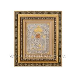 Icoana in rama - Maica Domnului Axionita 32,5x38 cm