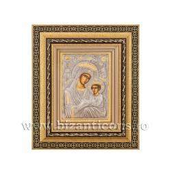 Icoana in rama - Maica Domnului Imparateasa - Anagheni 32,5x38 cm