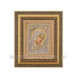 Icoana in rama - Maica Domnului cu lacrimi - Filimeni 32,5x38 cm