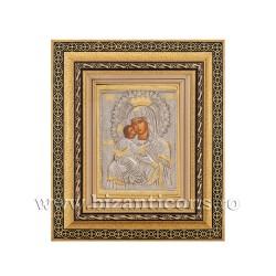 Icoana metal - rama aurie 31x36 MD Dulcea Sarutare - coroana K801-411