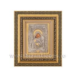 Icoana in rama - Maica Domnului Dulcea Sarutare 32,5x38 cm