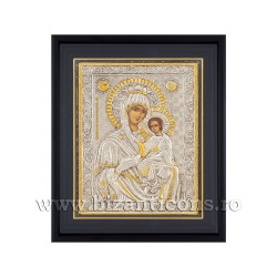 Icoana argintata - Maica Domnului Grabnic Ascultatoare 34x42 cm