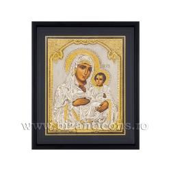 Icoana argintata - Maica Domnului Ierusalim 34x42 cm