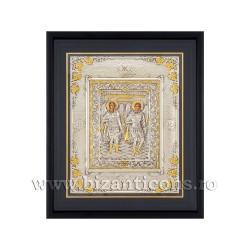Icoana argintata - rama 34x42 Sf Mihail si Gavriil K1100-033