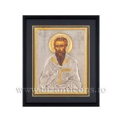 Icoana argintata - rama 34x42 Sf Vasile K1100-126